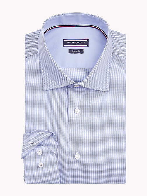 TOMMY HILFIGER Tencel Cotton Fine Check Shirt - 416 - TOMMY HILFIGER Formal Shirts - main image
