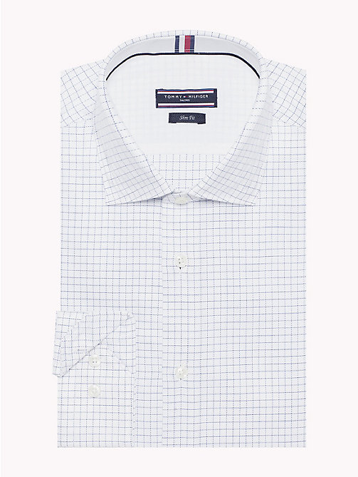 TOMMY HILFIGER Easy Iron Slim Fit Grid Shirt - 100 - TOMMY HILFIGER Formal Shirts - main image