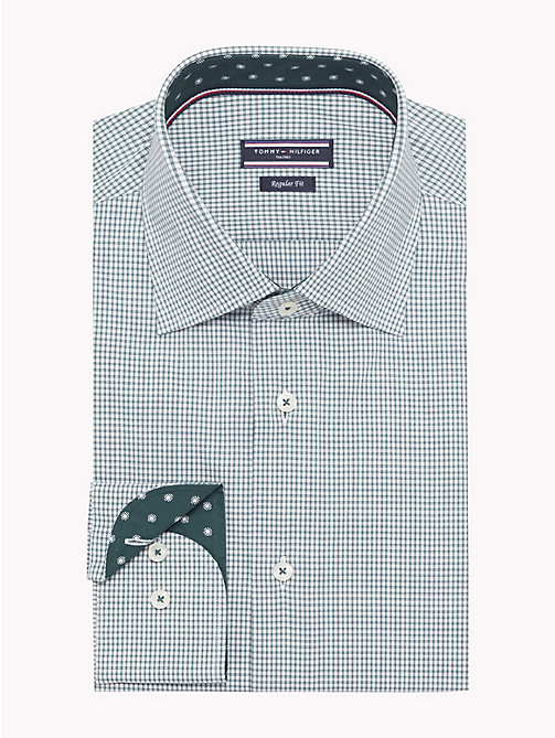 TOMMY HILFIGER Stretch Micro Check Shirt - 307 - TOMMY HILFIGER Shirts - main image