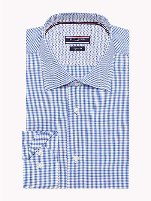 TOMMY HILFIGER Stretch Micro Check Shirt - 416 - TOMMY HILFIGER Shirts - main image