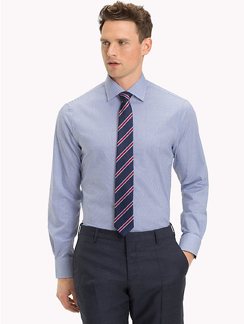 TOMMY HILFIGER Stretch Micro Check Shirt - 424 - TOMMY HILFIGER NEW IN - detail image 1