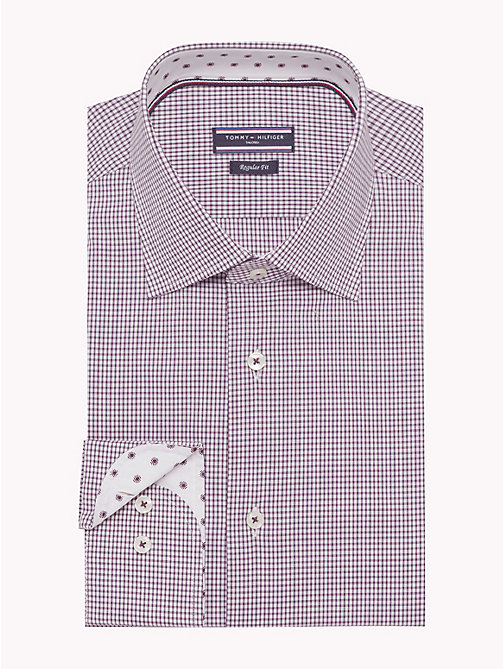 TOMMY HILFIGER Stretch Micro Check Shirt - 507 - TOMMY HILFIGER Shirts - main image