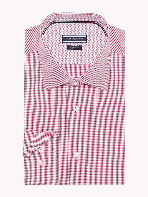 TOMMY HILFIGER Stretch Micro Check Shirt - 616 - TOMMY HILFIGER Formal Shirts - main image