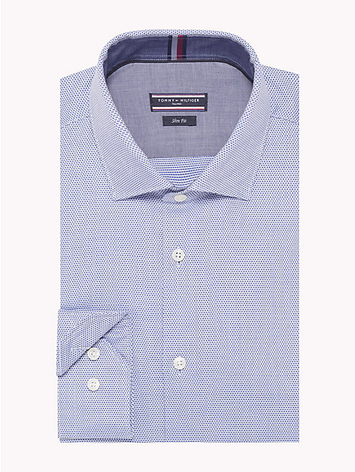 TOMMY HILFIGER Slim Fit Cotton Shirt - 425 - TOMMY HILFIGER Shirts - main image