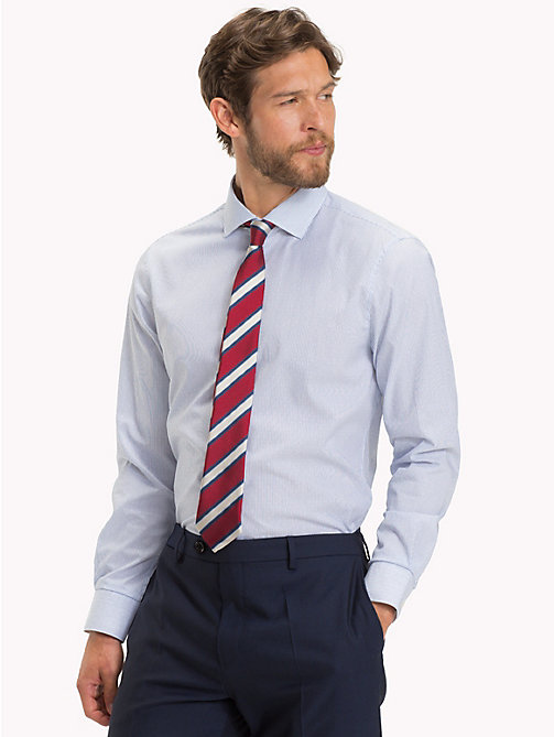 TOMMY HILFIGER Fine Stripe Slim Fit Shirt - 416 - TOMMY HILFIGER Formal Shirts - detail image 1