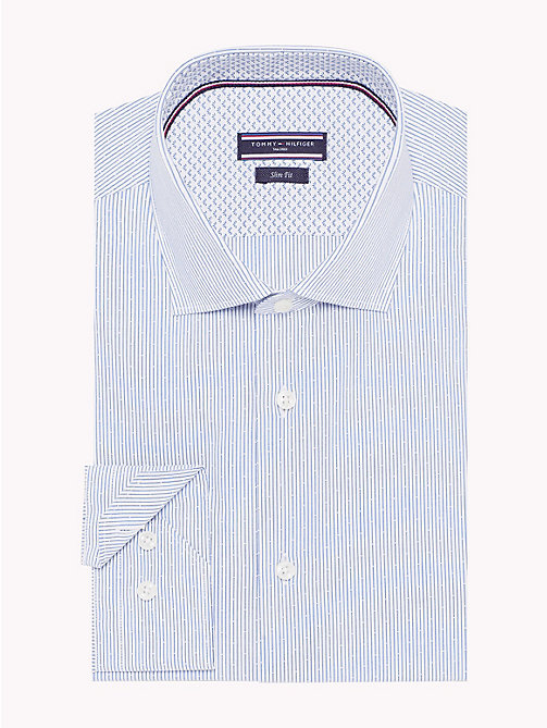 TOMMY HILFIGER Fine Stripe Slim Fit Shirt - 416 - TOMMY HILFIGER Shirts - main image