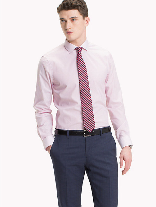 TOMMY HILFIGER Fine Stripe Slim Fit Shirt - 616 - TOMMY HILFIGER Formal Shirts - detail image 1