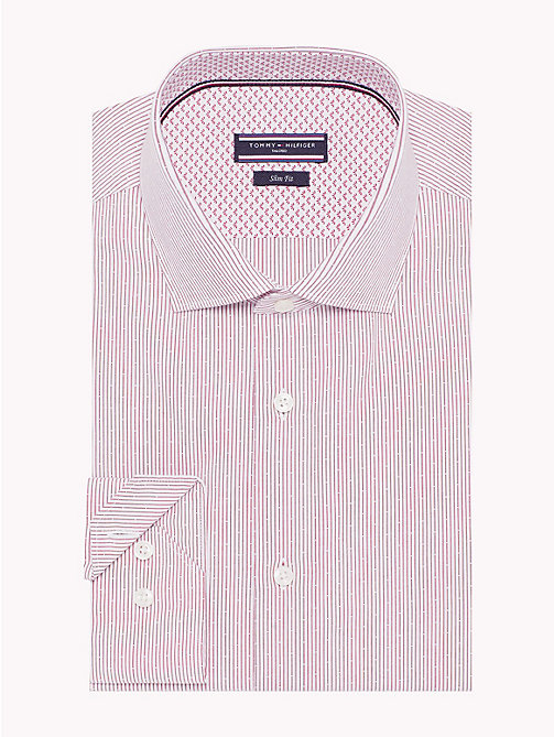 TOMMY HILFIGER Fine Stripe Slim Fit Shirt - 616 - TOMMY HILFIGER Formal Shirts - main image