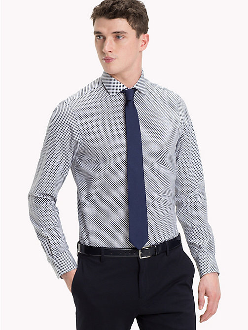 TOMMY HILFIGER Camicia slim fit easy iron a pois - 216 - TOMMY HILFIGER Camicie Eleganti - dettaglio immagine 1
