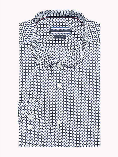 TOMMY HILFIGER Camicia slim fit easy iron a pois - 216 - TOMMY HILFIGER Camicie Eleganti - immagine principale