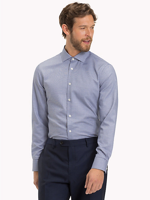 TOMMY HILFIGER Easy Care Cotton Slim Fit Shirt - 424 - TOMMY HILFIGER Formal Shirts - detail image 1