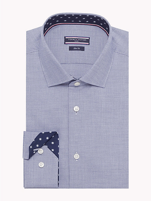 TOMMY HILFIGER Easy Care Cotton Slim Fit Shirt - 424 - TOMMY HILFIGER Formal Shirts - main image