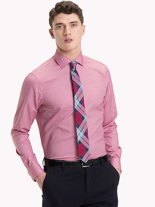 TOMMY HILFIGER Easy Care Cotton Slim Fit Shirt - 616 - TOMMY HILFIGER Formal Shirts - detail image 1