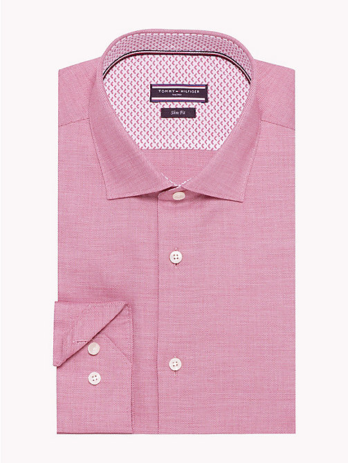 TOMMY HILFIGER Easy Care Cotton Slim Fit Shirt - 616 - TOMMY HILFIGER Formal Shirts - main image