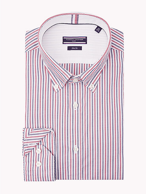 TOMMY HILFIGER Multicoloured Stripe Slim Shirt - 616 - TOMMY HILFIGER Formal Shirts - main image