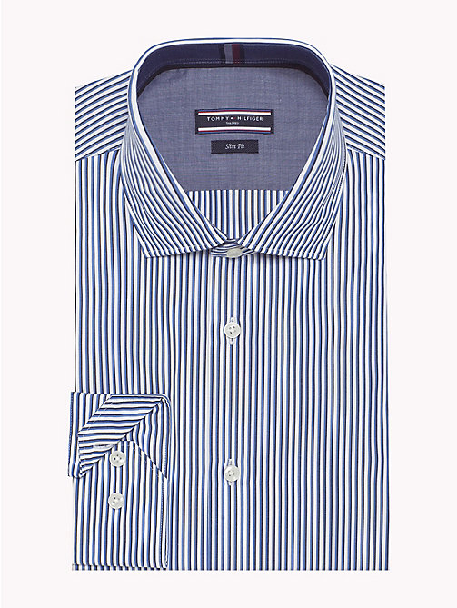 TOMMY HILFIGER Stripe Slim Fit Shirt - 410 - TOMMY HILFIGER Formal Shirts - main image
