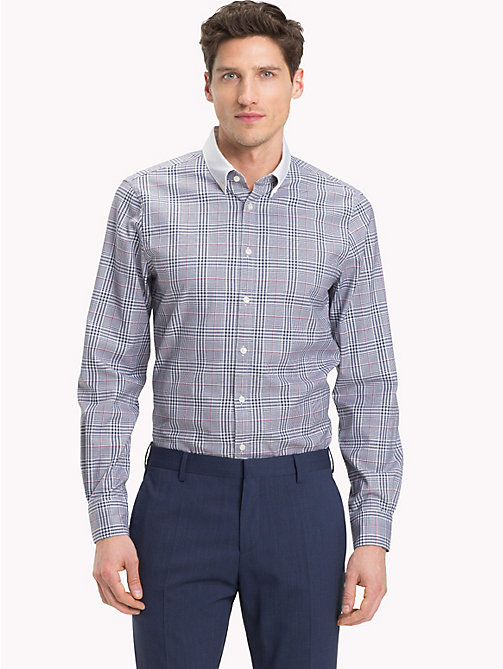 TOMMY HILFIGER Cotton Contrast Collar Shirt - 428 - TOMMY HILFIGER Formal Shirts - detail image 1