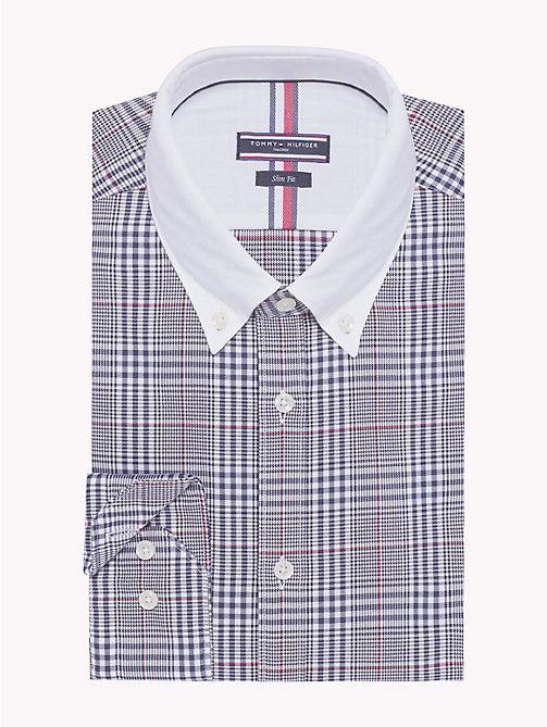 TOMMY HILFIGER Cotton Contrast Collar Shirt - 428 - TOMMY HILFIGER Formal Shirts - main image