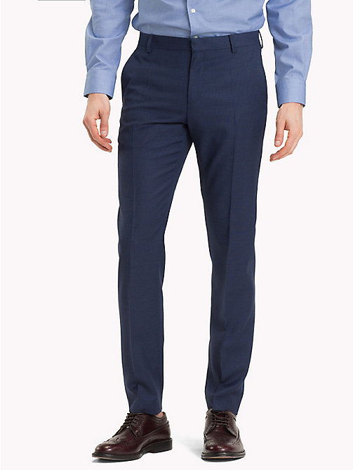 TOMMY HILFIGER Virgin Wool Slim Fit Suit Trousers - 425 - TOMMY HILFIGER Clothing - main image
