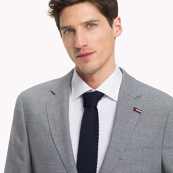 TOMMY HILFIGER Fitted Two-Button Suit Blazer - 215 - TOMMY HILFIGER Men - detail image 3