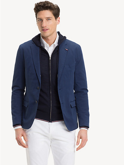 TOMMY HILFIGER Cotton Blend Slim Fit Blazer - 423 - TOMMY HILFIGER Clothing - main image