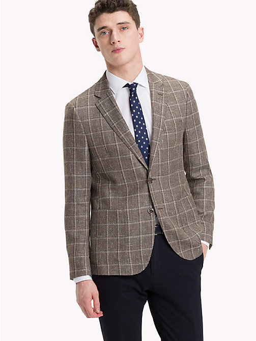TOMMY HILFIGER Wool Blend Check Blazer - 214 - TOMMY HILFIGER Black Friday Men - main image