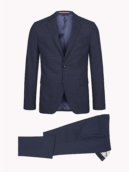 TOMMY HILFIGER Virgin Wool Blend Slim Suit - 427 - TOMMY HILFIGER Fitted - detail image 1