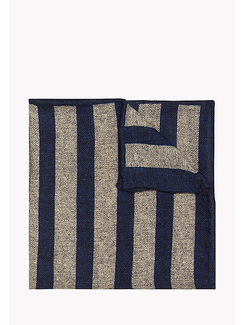 TOMMY HILFIGER Wool Stripe Pocket Square - 002 - TOMMY HILFIGER Ties & Pocket Squares - main image