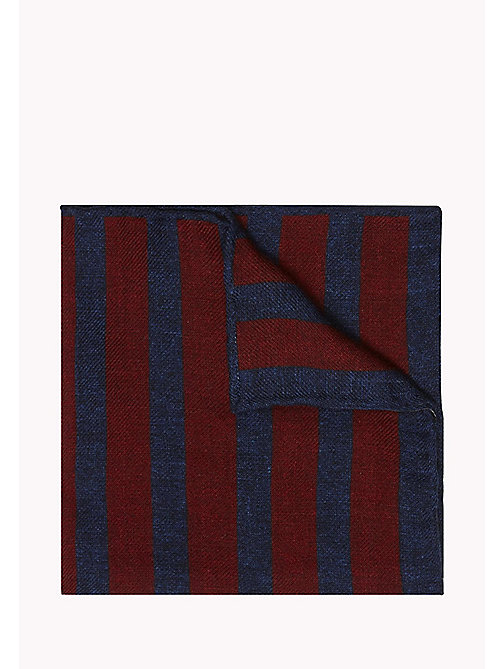 TOMMY HILFIGER Wool Stripe Pocket Square - 616 - TOMMY HILFIGER Ties & Pocket Squares - main image