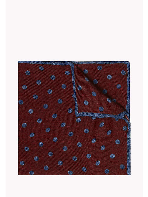 TOMMY HILFIGER Polka Dot Wool Pocket Square - 616 - TOMMY HILFIGER Ties & Pocket Squares - main image
