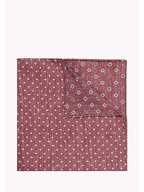 TOMMY HILFIGER Reversible Silk Cotton Pocket Square - 616 - TOMMY HILFIGER Bags & Accessories - main image