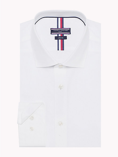 TOMMY HILFIGER Slim Fit Chambray Shirt - 100 - TOMMY HILFIGER Formal Shirts - main image