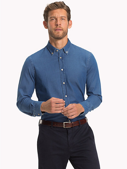 TOMMY HILFIGER Denim-Hemd mit Button-down-Kragen - 426 - TOMMY HILFIGER Businesshemden - main image 1