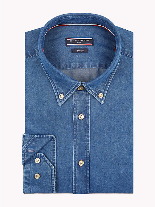 TOMMY HILFIGER Denim-Hemd mit Button-down-Kragen - 426 - TOMMY HILFIGER Businesshemden - main image