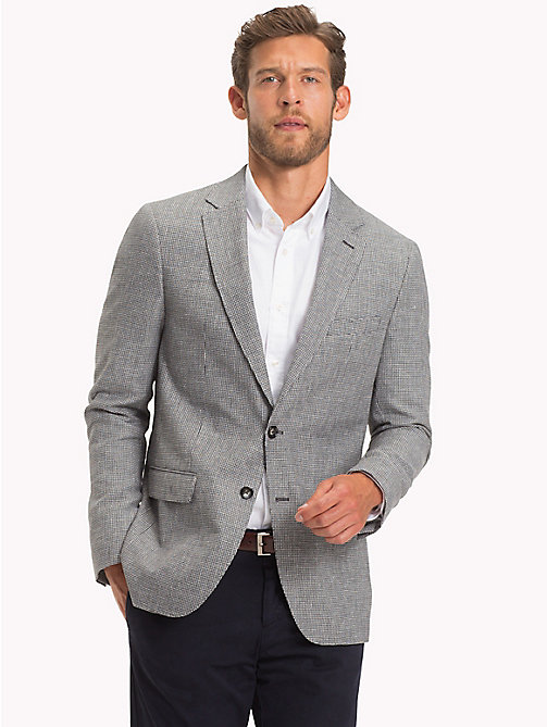 TOMMY HILFIGER Virgin Wool and Linen Slim Fit Blazer - 025 - TOMMY HILFIGER Suits & Tailored - main image