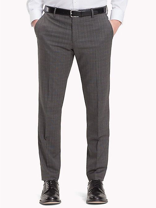 TOMMY HILFIGER Slim Fit Virgin Wool Suit Trousers - 020 - TOMMY HILFIGER Trousers & Shorts - main image