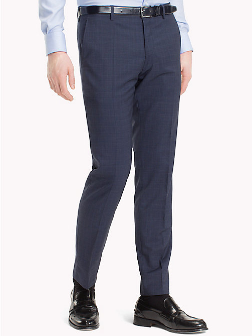 TOMMY HILFIGER Slim Fit Virgin Wool Suit Trousers - 427 - TOMMY HILFIGER Trousers & Shorts - main image