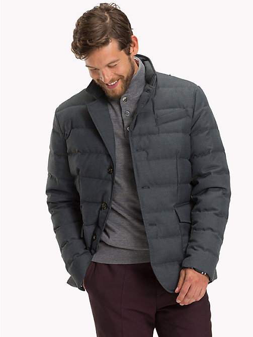 TOMMY HILFIGER Flannel Quilted Down Jacket - 011 - TOMMY HILFIGER Sustainable Evolution - main image