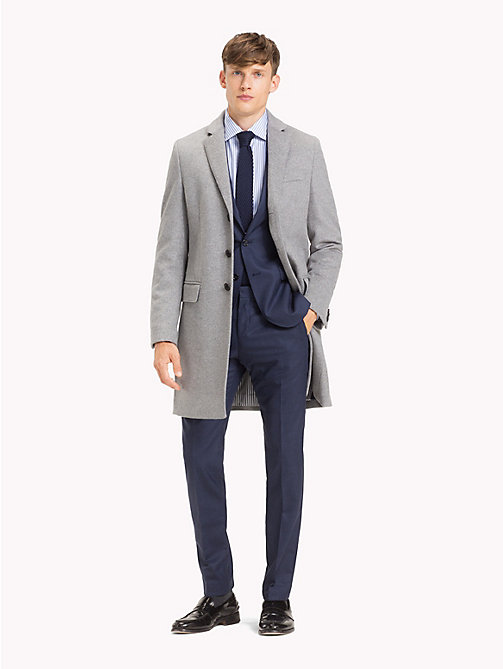 TOMMY HILFIGER Classic Wool Blend Coat - 005 - TOMMY HILFIGER Suits & Tailored - detail image 1