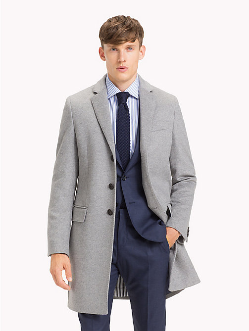 TOMMY HILFIGER Classic Wool Blend Coat - 005 -  Coats - main image