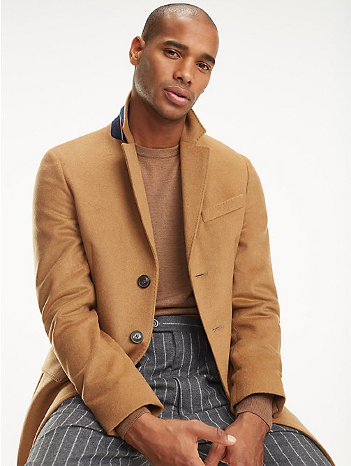 TOMMY HILFIGER Classic Wool Blend Coat - 204 - TOMMY HILFIGER Coats & Jackets - main image