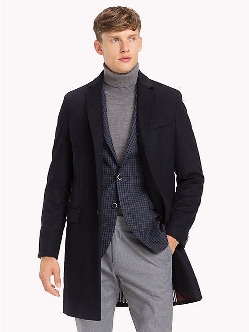 TOMMY HILFIGER Classic Wool Blend Coat - 429 - TOMMY HILFIGER Coats & Jackets - main image