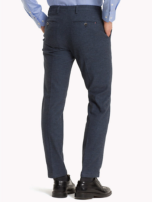 TOMMY HILFIGER Birdseye Slim Fit Trousers - 420 - TOMMY HILFIGER Formal Trousers - detail image 1