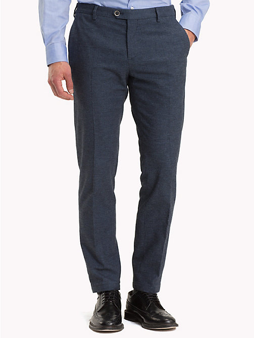 TOMMY HILFIGER Birdseye Slim Fit Trousers - 420 - TOMMY HILFIGER Formal Trousers - main image
