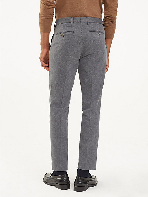 TOMMY HILFIGER Stretch Twill Slim Fit Trousers - 014 - TOMMY HILFIGER Formal Trousers - detail image 1