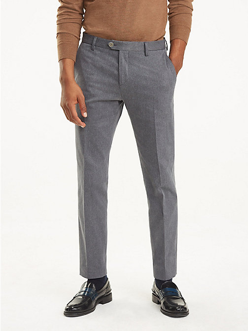 TOMMY HILFIGER Stretch Twill Slim Fit Trousers - 014 - TOMMY HILFIGER Formal Trousers - main image