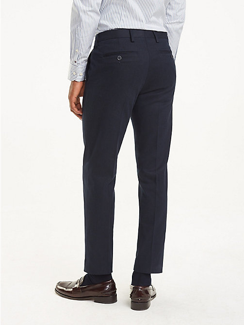 TOMMY HILFIGER Stretch Twill Slim Fit Trousers - 427 - TOMMY HILFIGER Formal Trousers - detail image 1