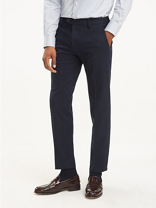 TOMMY HILFIGER Stretch Twill Slim Fit Trousers - 427 - TOMMY HILFIGER Suits & Tailored - main image
