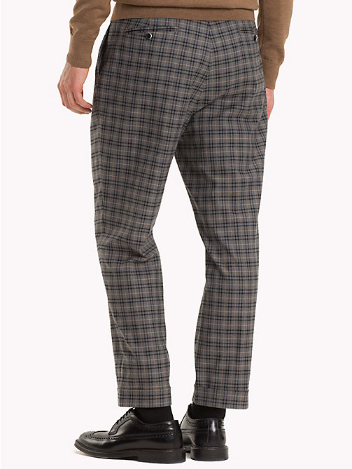 TOMMY HILFIGER Check Tapered Slim Fit Trousers - 017 - TOMMY HILFIGER Trousers & Shorts - detail image 1