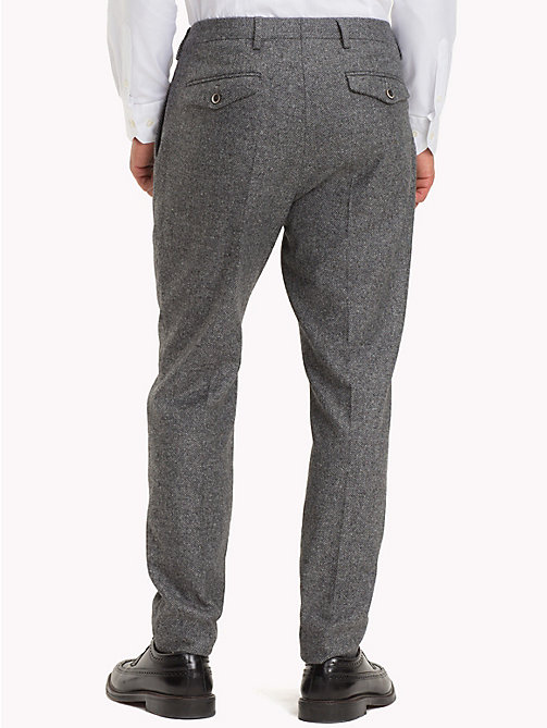 TOMMY HILFIGER Wool Blend Slim Fit Trousers - 020 - TOMMY HILFIGER Clothing - detail image 1